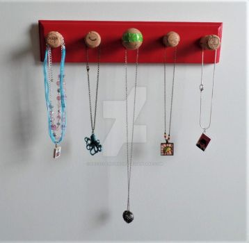 Necklace Holder Thingamajig by RecycledHorrors