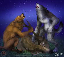 Fullmoon Card 'Fortunate Hunt' - [Game Project] by KeksWolf