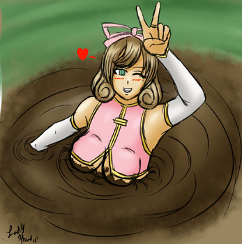 Haruka in Quicksand (Colored Sketch Giftart) by Lady-of-Mud
