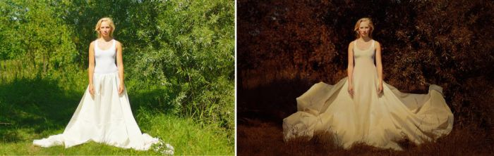 Before and after of The Queen of My Own Land by Lucie-Lilly