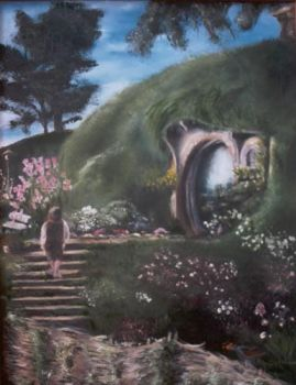 Lord of the Rings, Hobbit Hole by papercastle