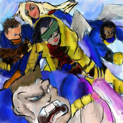 Request - Jubilee and the X-People Earth 982 by XbinaryBrwnfanartist