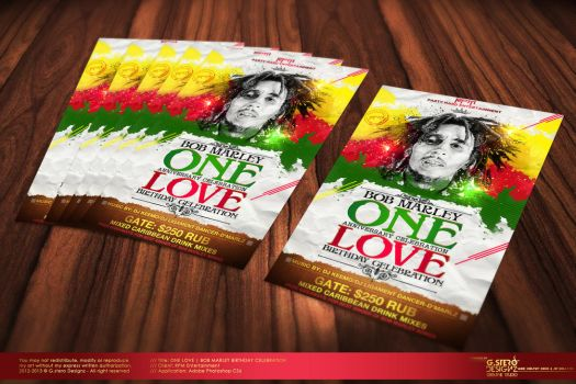 One Love Party Flyer Vr 2 by Gallistero