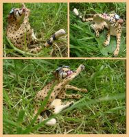 Figure of a cheetah. by Myza-Lioness