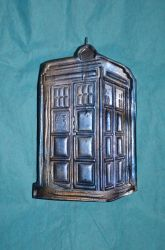 Polymer Clay Tardis - Stamp and Pearl Ex Test (1A) by LostGryphin