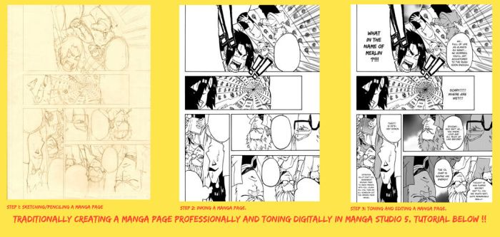 How To Make A Manga Page Professionally by WhytManga