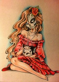 Lady Day of the Dead by ZONE-41