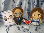 Custom Wedding Card and Matching Figures by emmadreamstar