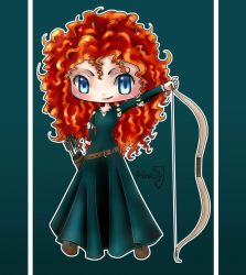 Commission: Merida the Brave by HarukArt