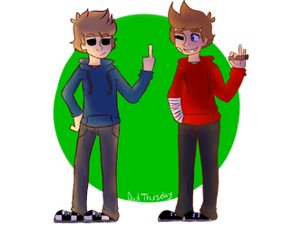 Tom and Tord green screen by OwlThursday
