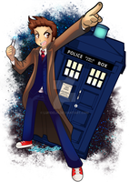 10th Doctor Allons-y by lufidelis