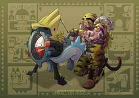 MH X POKEMON - Vermillion Armour