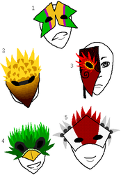 Mask Designs 1 by CheshireCatGrin
