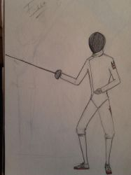 Some guy in fencing clothes by ChudaChan