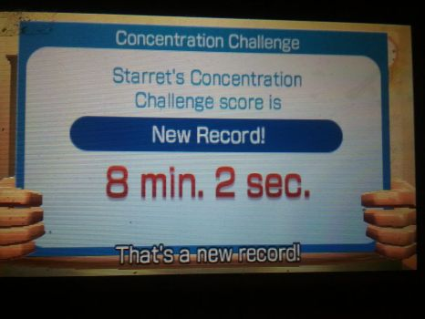 8 min 3 sec Concentration Challenge Record  by Keyotea