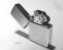 Zippo Lighter Drawing by caneker