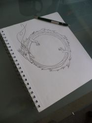 Ouroboros drawing by Mathew40000