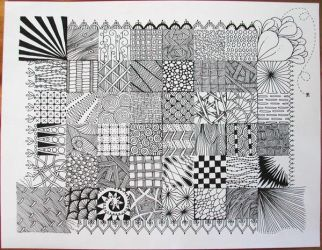Zentangle Sampler by joanieponytail
