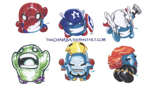 BLOOBvengers by theCHAMBA