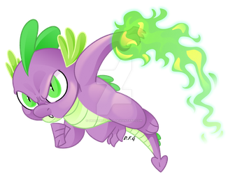 Spike the Brave by Dragonfoxgirl