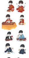Osomatsu-san meal time by beginnersguild