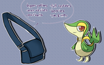 Snivy and Bag by zenzenblah