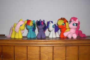 Mane Six now for sale! by black-moon-flower