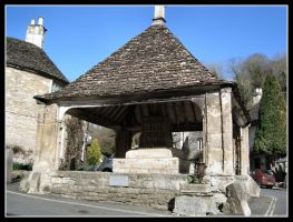 Village Centre Castle Combe by Lunapic