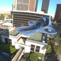 TriFan Hovership in the City by VanishingPointInc