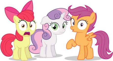 CMC Looking Surprised At Us by TomFraggle