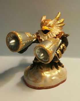 gold jet vac skylanders custom paint by Hbombindustries