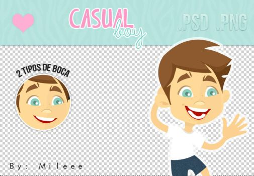 Casual Boy (PNG/PSD) by TutorialesMileee