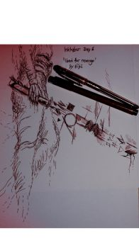 Inktober Day 6 'Used for revenge' by TheInkFanatic