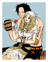 [Commission] Ace and Mana by punkeduppirate
