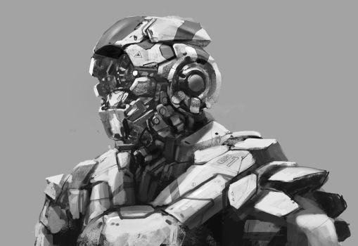 robot head 2015 by novaillusion