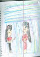 Akiko and Xiaoying let their hair down by Kelseyalicia