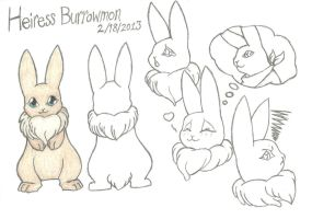 HeiressBurrowmon ref sheet by LoneWolfX220
