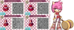 Animal Crossing: Sonic Boom Amy's Dress by flyer3f