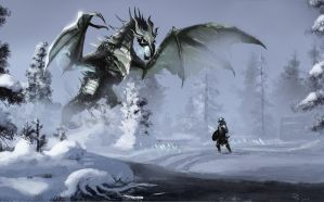 Battle with Fo Dovah by 1Rich1