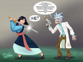Rick and Mulan  by DevinQuigleyArt