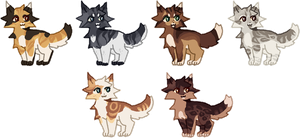so many kitties | adopts | open 6/6 by Pawses