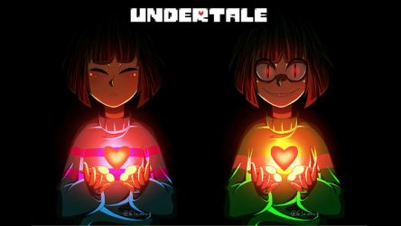 Frisk and Chara (Wallpaper) by Glamist