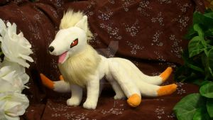Commission:  Ninetales Plush. by ChinchillaDragoon