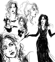 Bellatrix sketches by nolawforthedamned