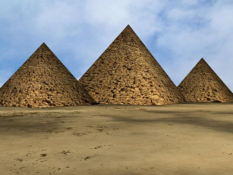 The Great Pyramids by Tkrain