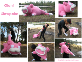 Giant Slowpoke plush