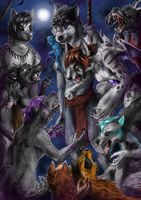 Commission - Pack vs Pack by FuriarossaAndMimma
