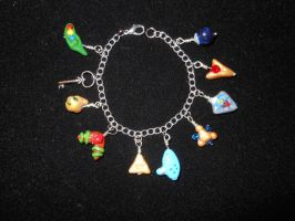 Ocarina of time charm bracelet-for sale by JenniferSlattery