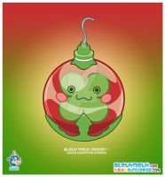 Kawaii Red Xmas Ornament by KawaiiUniverseStudio