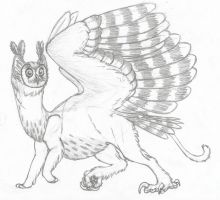 Owl Gryphon by Dragimal